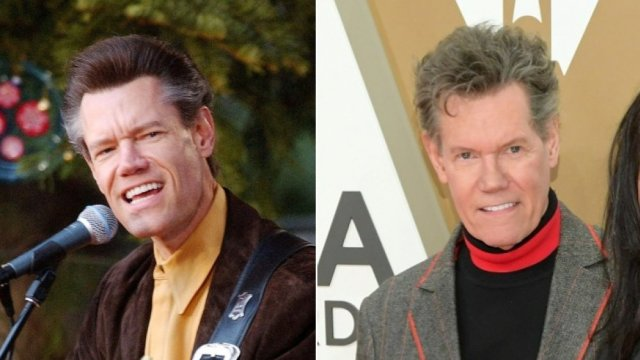 country star Randy Travis then and now