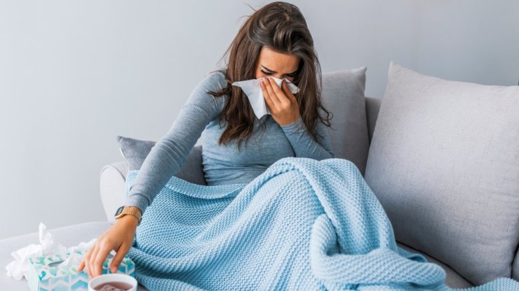 the flu from kissing