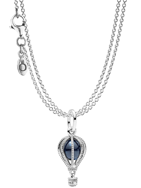 Pandora 75251 Pendant Hot Air Balloon With 2 Row Necklace Silver 925