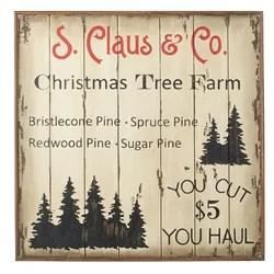 Xmas Tree Farm Vintage Advertisement Plaque