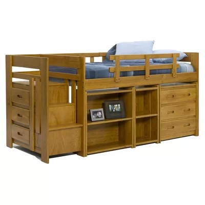 low loft bed with storage plans