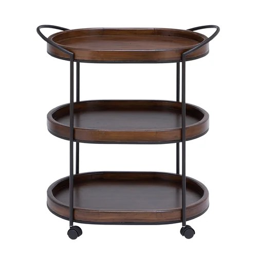 Woodland Imports 3 Tier Serving Cart
