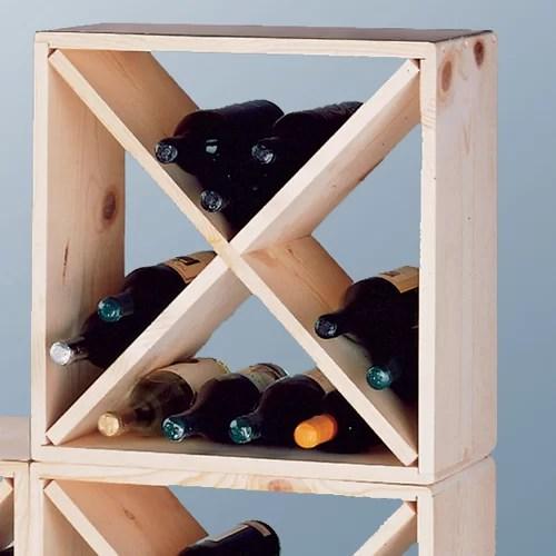 pine cube wine rack plans