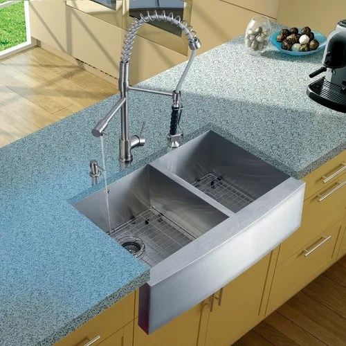 Vigo Two Handle Single Hole Pot Filler Kitchen Faucet With