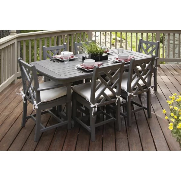 Chippendale 7 Piece Dining Set with Cushion