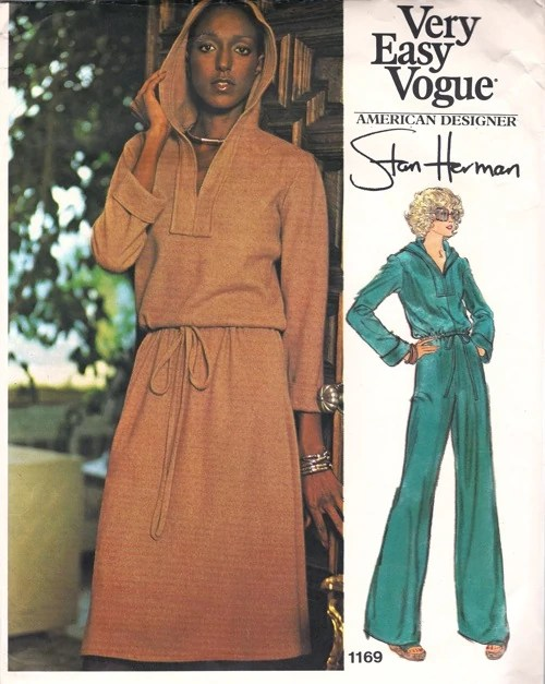Billie Blair modelling a 1970s Stan Herman pattern - Vogue 1169