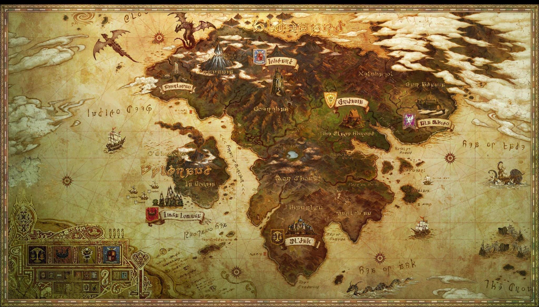 FFXIV World Map Showing Garlean Control