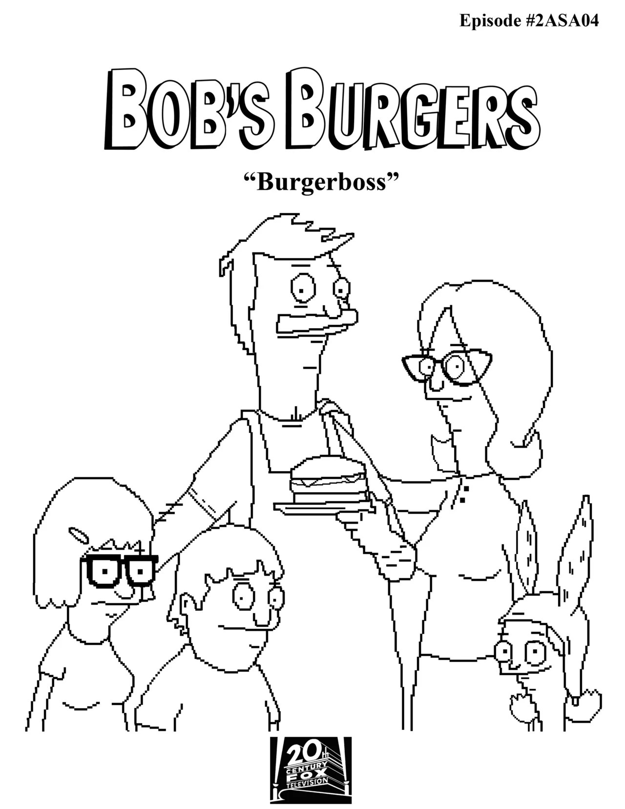 bobs burgers colouring pages