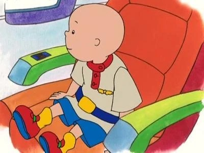 Caillou Rides An Airplaine Caillou Wiki