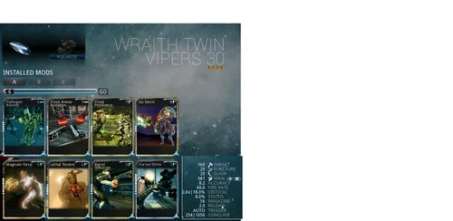 500px WarframeWikiWraithTwinVipers4formabuildanddamagestatspng