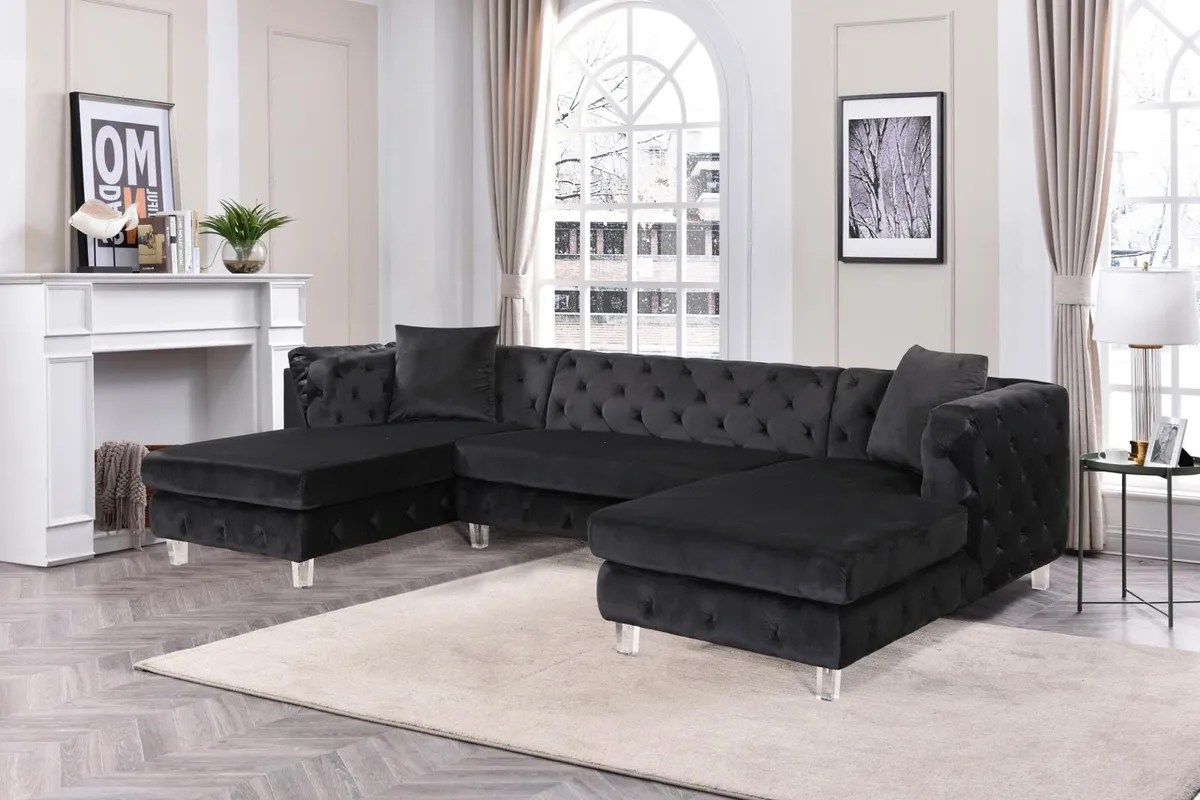 amy double chaise sectional sofa