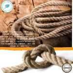 12mm Hemp Rope 33 Feet Thick Garden Jute Twine String For Diy Cat Scratcher Gardening Bundling