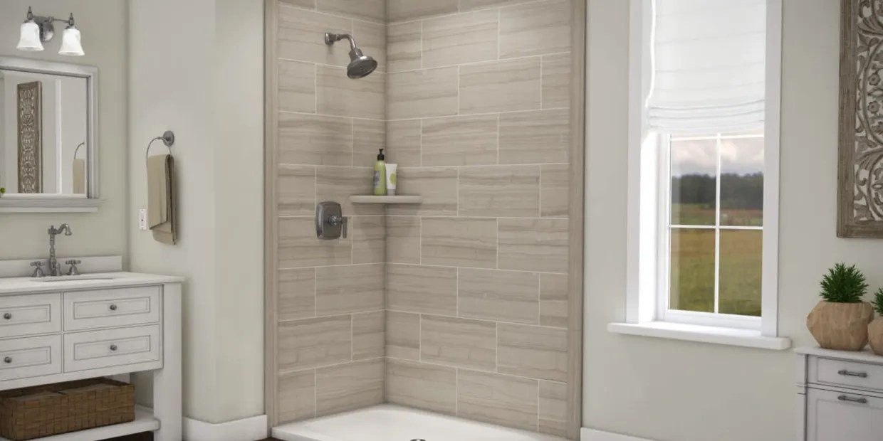 groutless shower wall panels look great