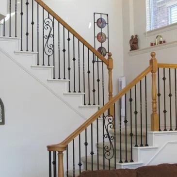 Baluster Store Iron Stair Railing Iron Balusters Stair Handrail | Iron Stair Railing Cost | Wrought Iron Balusters | Deck | Stair Parts | Banister | Stair Treads