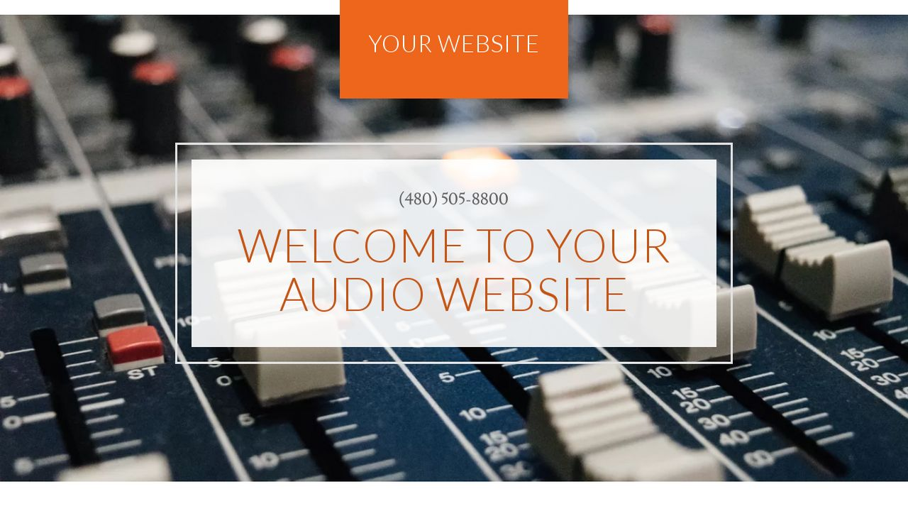 Audio Website Templates Godaddy
