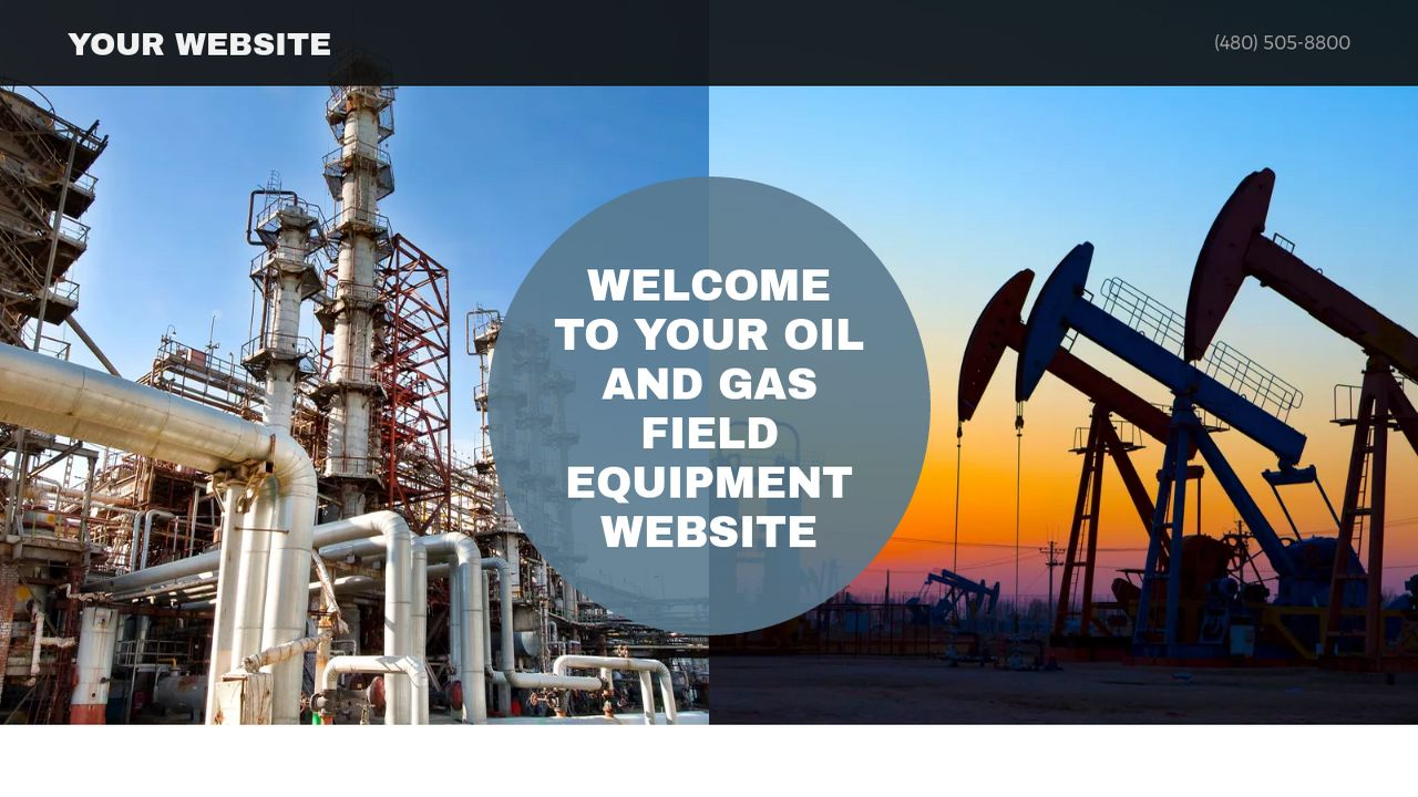 Example 15 Oil And Gas Field Equipment Website Template GoDaddy