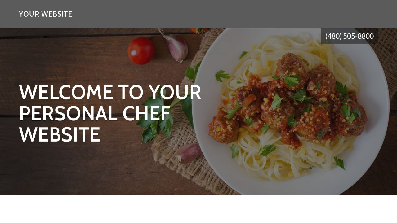 Personal Chef Website Templates Godaddy