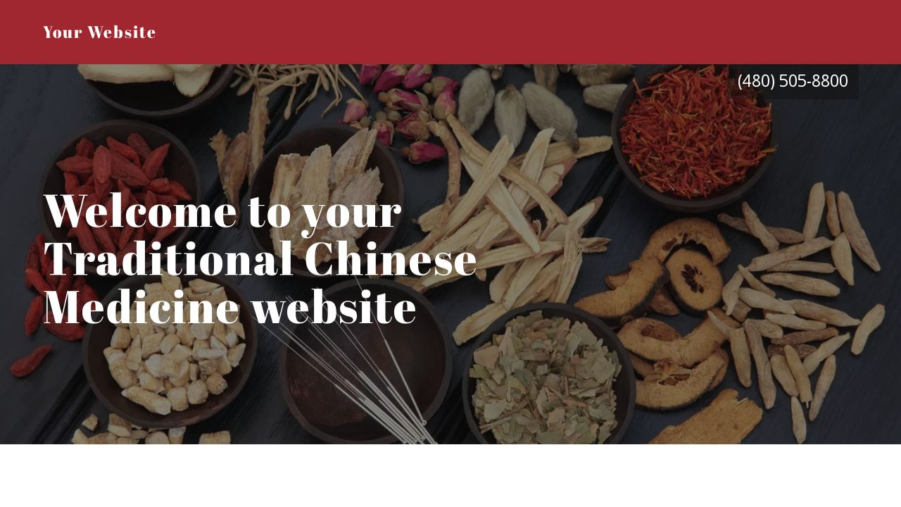 Traditional Chinese Medicine Website Templates GoDaddy