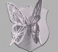 papillon 3d models to print yeggi