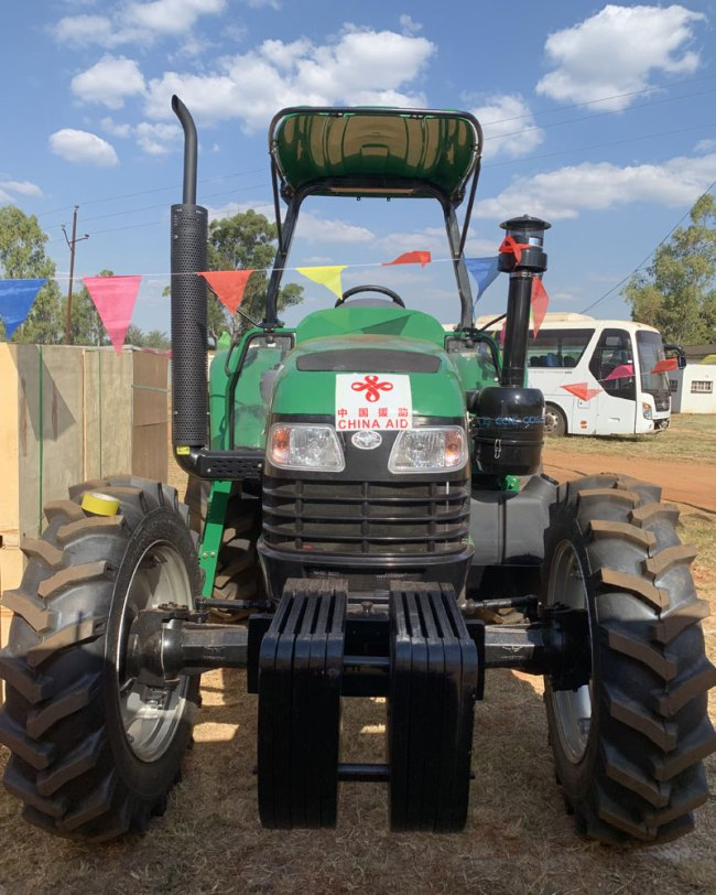 A tractor donated by China to Zimbabwe. [Photo: China Plus/Gao Junya]