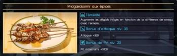 Final Fantasy XV midgardsormr aux épices