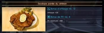Final Fantasy XV escalope panée du vétéran