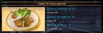 Final Fantasy XV poisson frit sauce piquante