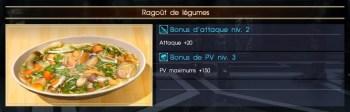 Final Fantasy XV ragoût de légumes