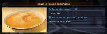 Final Fantasy XV soupe à l'aileron démoniaque