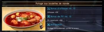 Final Fantasy XV potage aux boulettes de viande