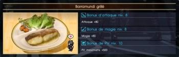 Final Fantasy XV barramundi grillé