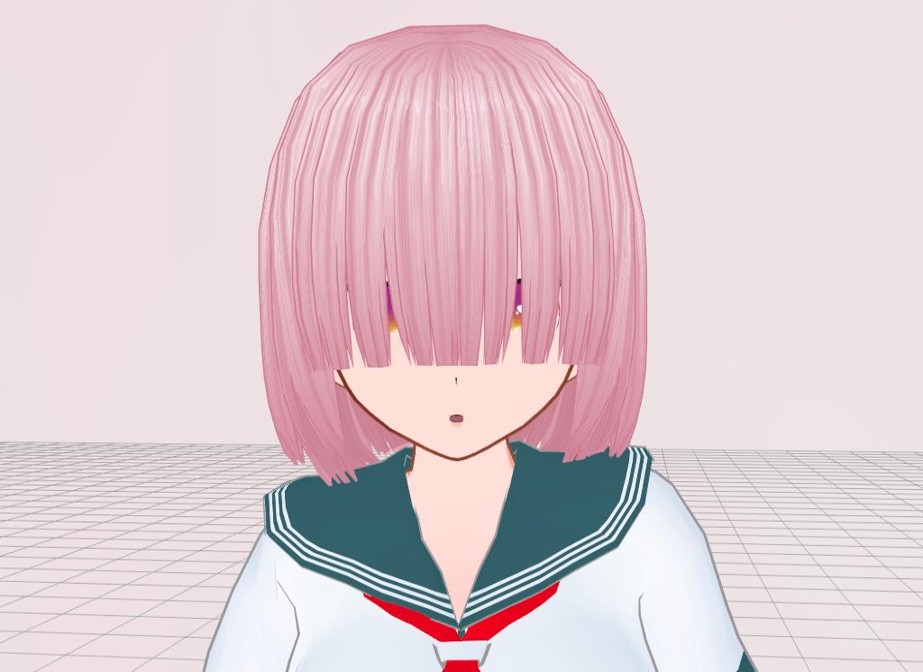 Pixelgirl Hair Covering One Eye