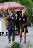 Blake Lively leggy in stockings on the set of Gossip Girl in Central Park, New York - Hot Celebs Home