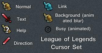 League Of Legends Cursor Set By Cyberdyne12489 On DeviantArt