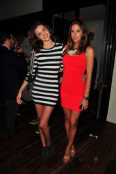Miranda Kerr leggy in short tight dress at MINNIE MORTIMER Spring 2010 Collection Launch - Hot Celebs Home