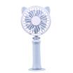 Mini Portable Fan 2 Speeds Handheld Desktop LED Colorful Night Light Fan Cooler Cute USB Rechargeable Fan for Office Home Outdoor