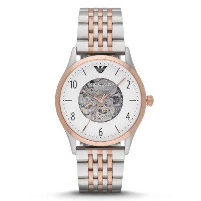 エンポリオアルマーニ腕時計/メンズ/AR1921/ホワイトダイアル/メカニコ/自動巻き/スケルトンダイアル