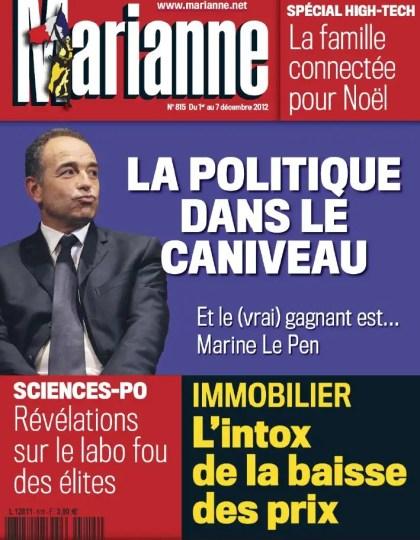 Marianne N°815 du 1er au 7 Décembre 2012