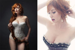 Christina Hendricks shows magnificent cleavage in New York Magazine Spring Fashion Issue - Hot Celebs Home
