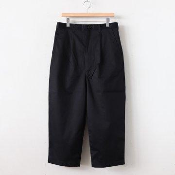綿ギャバ タックパンツ #BLACK [HE-P006-051]