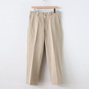 CHINO CLOTH PANTS CREASED #KHAKI [10605] _ YAECA   ヤエカ
