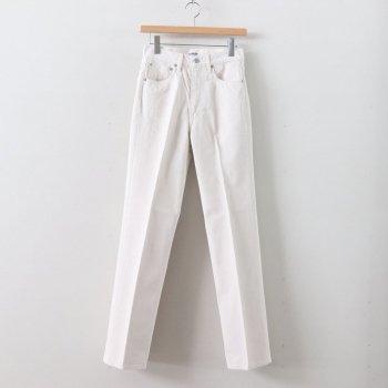 HARD TWIST DENIM 5P PANTS #WHITE IVORY [A00P02DM] _ AURALEE | オーラリー