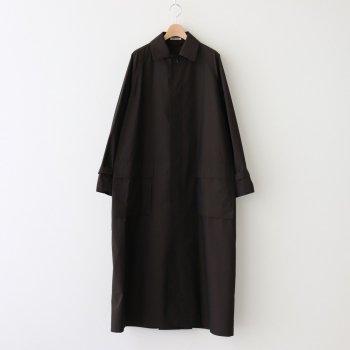 FINX NYLON CHAMBRAY SOUTIEN COLLAR COAT  #BLACK CHAMBRAY [A21SC02NC] _ AURALEE | オーラリー