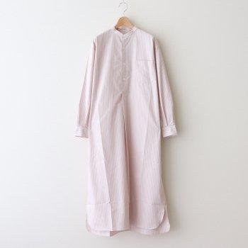 BAND COLLAR PULLOVER DRESS 《STRIPE》 #PINK STRIPE [L2101-DR001] _ LENO | リノ