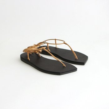 LEATHER LACE-UP SANDALS MADE BY FOOT THE COACHER #BLACK [A21SS04FT] _ AURALEE   オーラリー