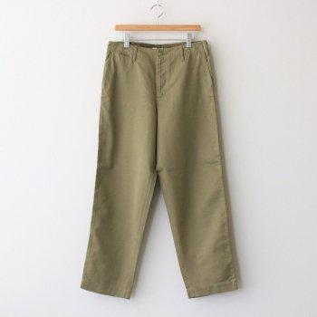 WASHED FINX BUGGY SATIN WIDE PANTS #KHAKI GREEN [A21AP01FB] _ AURALEE | オーラリー