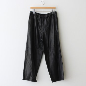 SHEEP LEATHER EASY PANTS #BLACK [GM213-40063] _ Graphpaper   グラフペーパー