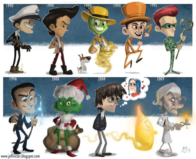 jimcarreyv - Evolución de los famosos por Jeff Victor