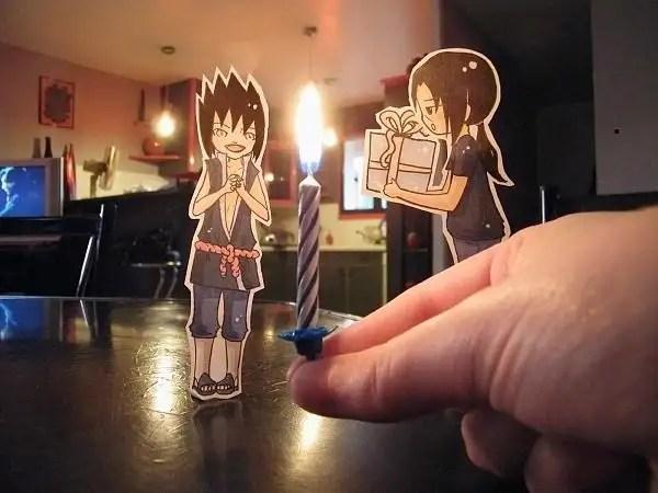 lowra008 - Paper Child Caricaturas recortadas interactuando en la vida real