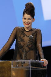 Laetitia Casta braless with see through top showing her boobs at 35th Cesar Film Awards in Paris - Hot Celebs Home